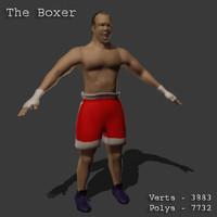 3d model boxer male