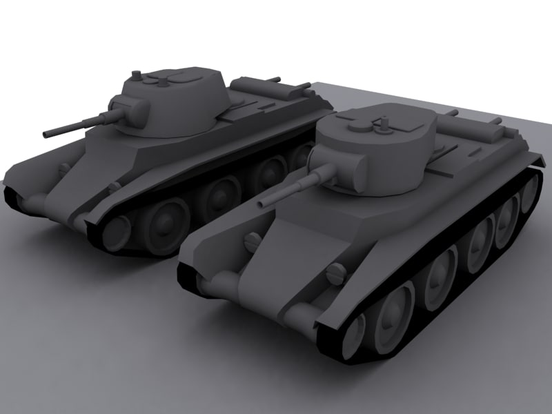 2 tanks bt-7s 3d model