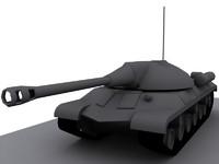 3d model is-3 tank 3 1945