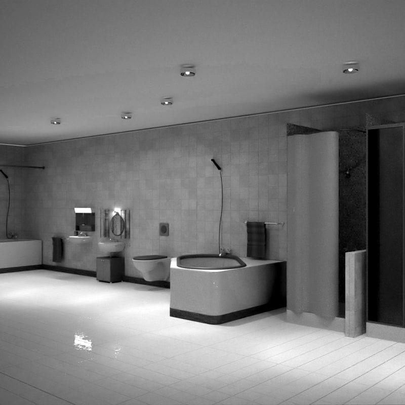 3d bathroom sinks showers