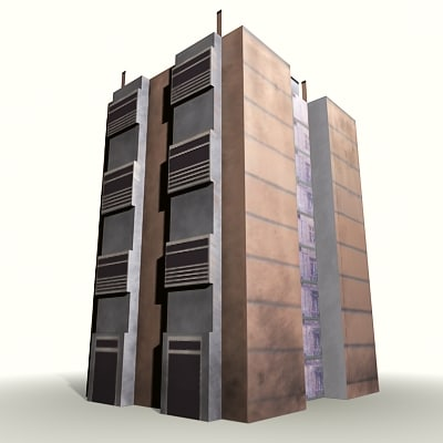 4 floor appartment 3d 3ds