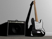 Fender Squier Stratocaster electric guitar and Amp