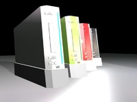 3d model of wii nintendo console