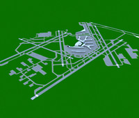 3d chicago o hare airport runway model