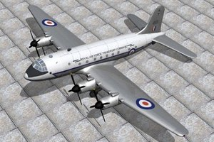 handley page hastings freighter 3d model