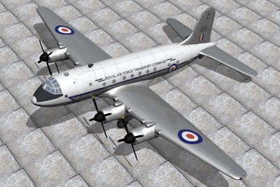 3d handley page hastings freighter model