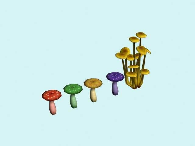 3d model fungus