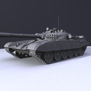 3d model t-72 tank