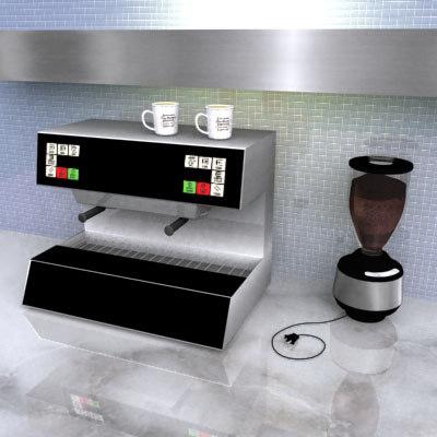 3d cappucino coffee grinder