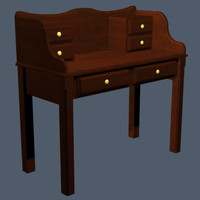 victorian writing desk v1 max