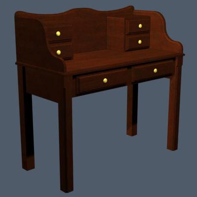 victorian writing desk v1 max