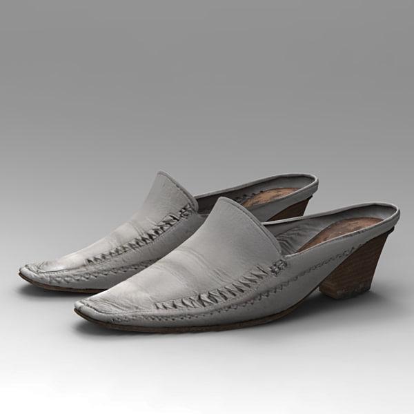 3d model polygonal shoes