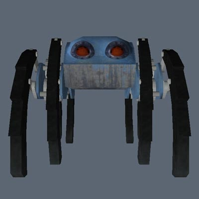 mechanical walking machine 3d obj