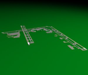 3d model kansas city airport runway