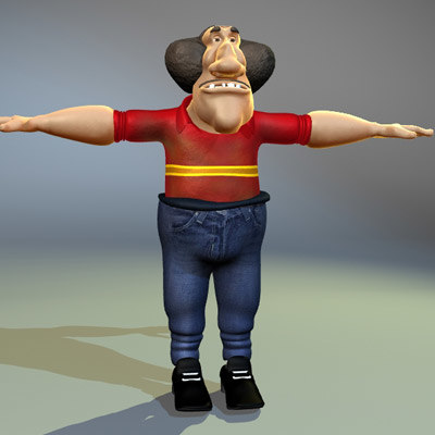 lightwave cartoon character