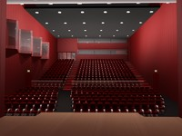 theater auditorium 3d model