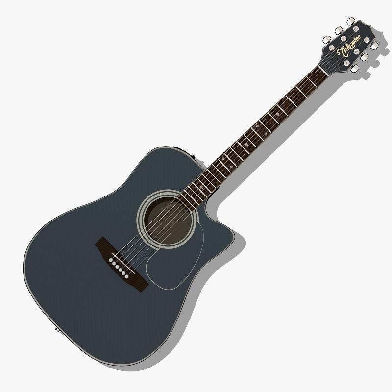 3d guitar takamine model