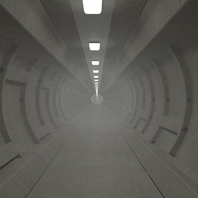 3d max underground tunnel