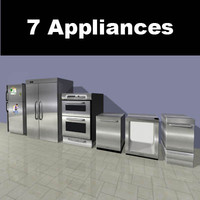 3d model appliance kitchen