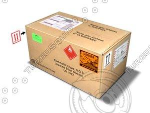 3dsmax cardboard box hazmat