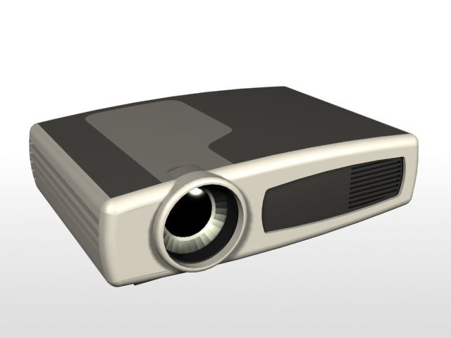 3d model hewlett projector hp
