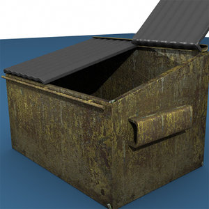 dumpster trashcan 3d lwo