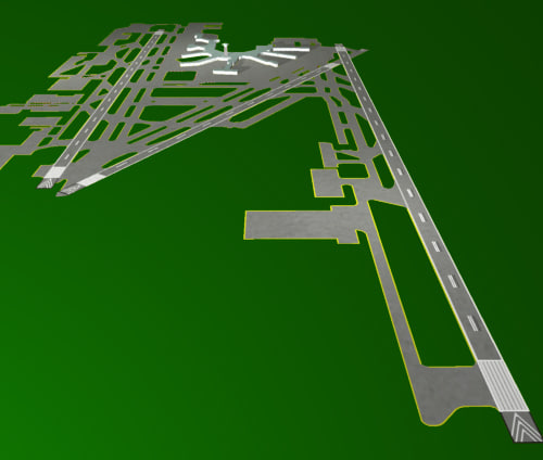 3d model miami airport runway