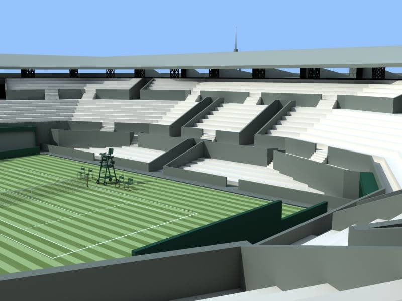 wimbledon court stadium 3d max