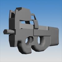 3d model 5 7 mm pdw