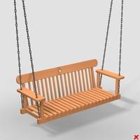 swing bench 3d max