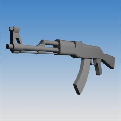 3d 7 62 mm assault rifle