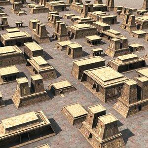 3dsmax egyptian buildings set egypt