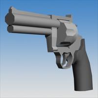3dsmax 44 magnum revolver