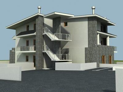 urban house 3d model