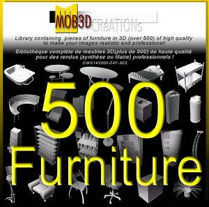 furniture 500 3d model