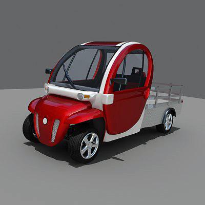 battery-electric vehicle gem car 3d model