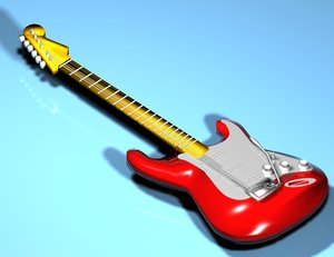 3d model guitar strat