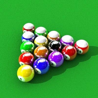 billard balls lwo