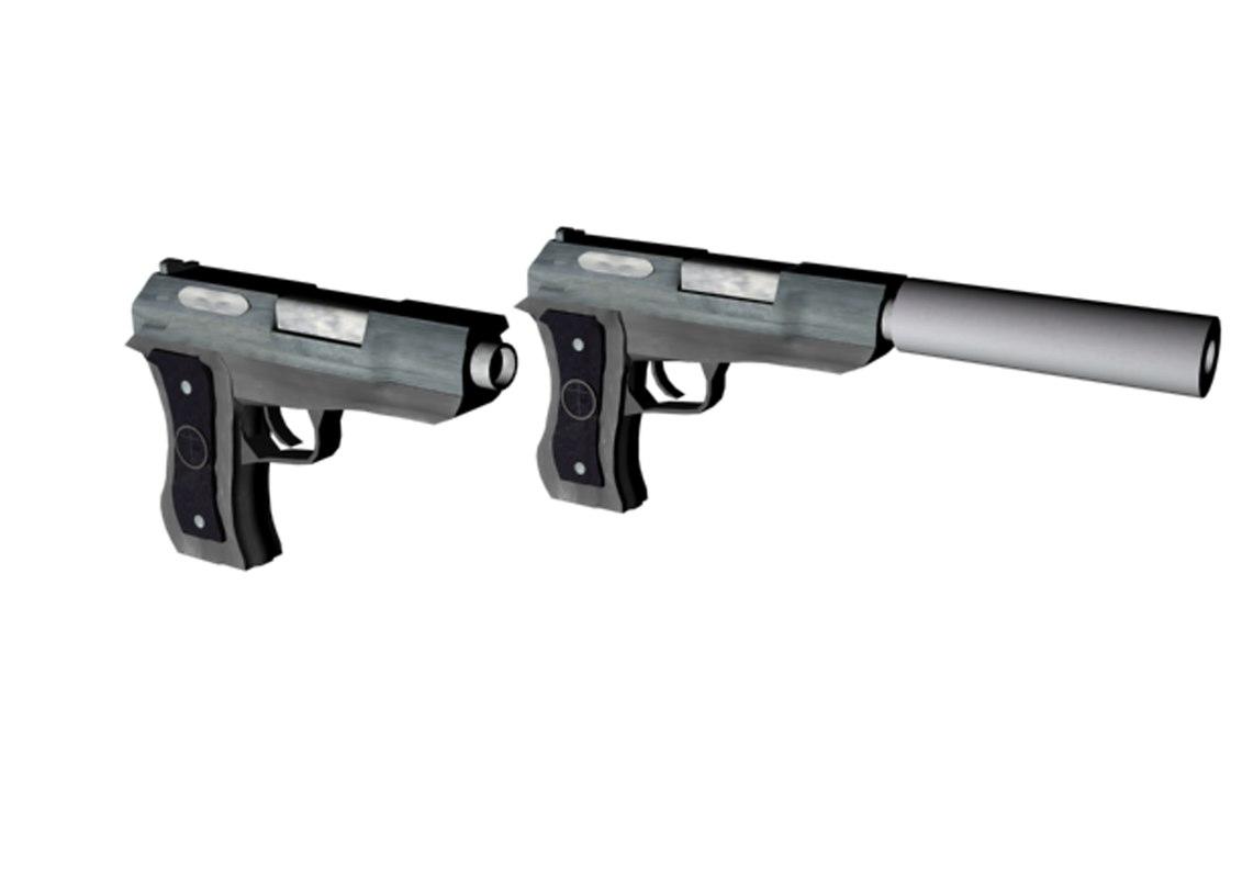 max silenced unsilenced pistol