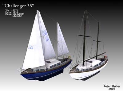 max sailboat challenger 35