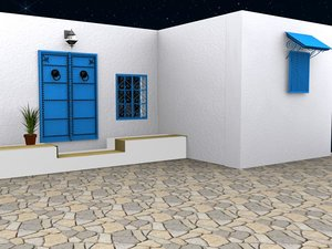 3d model architecture tunisia tunis sidi