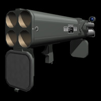 66 mm rocket launcher 3d model