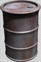 3dsmax oil drum