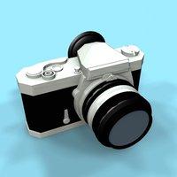 camera nikkormat 3d model