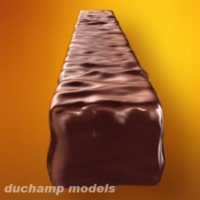 chocolate bar 3d model
