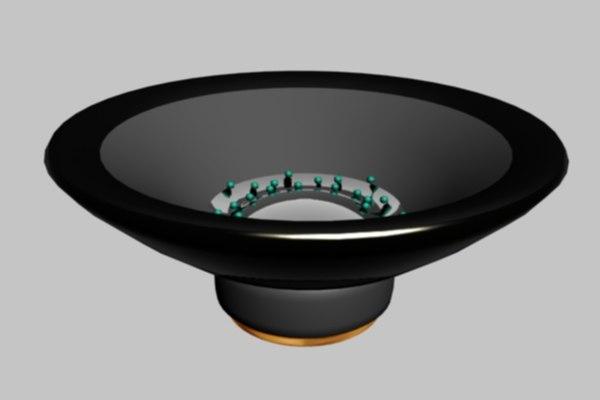 3d sub woofer beads speaker