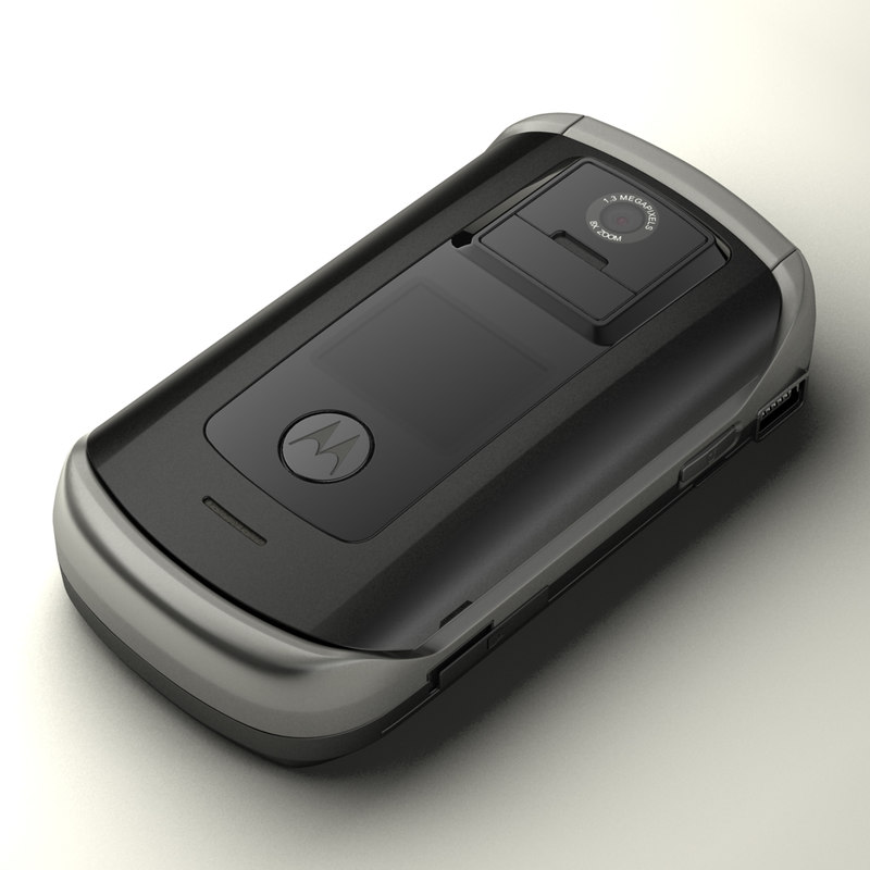 motorola e1070 v1075 cell phone 3d model