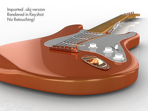 stratocaster polygons - 3d model
