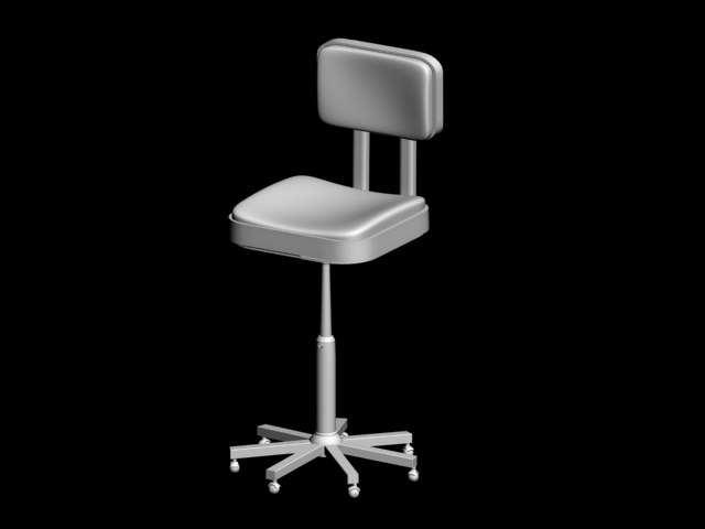 3ds max office wheel chair