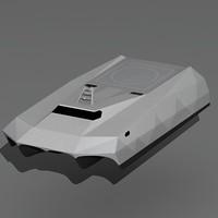 m80 stiletto naval ship 3d model